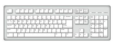 Het toetsenbordillustratie van de computer Stock Afbeelding