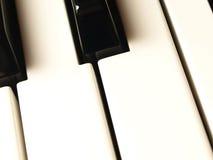 Het toetsenbordsleutels van de piano stock foto