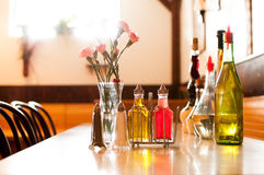 Het toevallige Italiaanse restaurant plaatsen Stock Fotografie