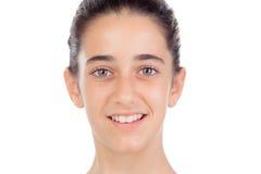 Het toevallige tienermeisje glimlachen Stock Afbeelding