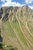 Het toevluchtsoord van alpen stock foto