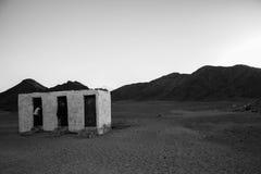 Het toilet in de woestijn Stock Afbeelding