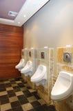 Het toilet van de mens Stock Foto