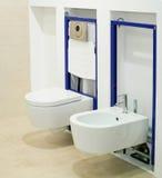 Het toilet van de montage Stock Fotografie
