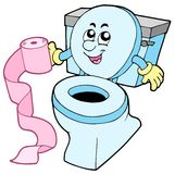 Het toilet van het beeldverhaal stock illustratie