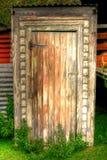 Het toilet van het bijgebouw Royalty-vrije Stock Afbeelding