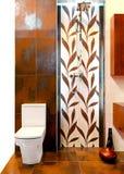 Het toilet van het blad Stock Foto