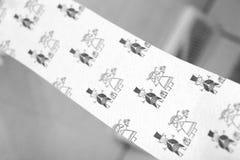 Het Toiletpapier van de huwelijksdag Royalty-vrije Stock Afbeeldingen