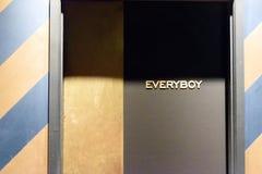 Het Toiletteken van Everyboymijnheren Stock Afbeelding