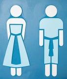 Het toilettekens van mensen Royalty-vrije Stock Afbeeldingen