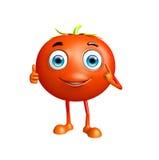 Het tomatenkarakter met duimen stelt omhoog Royalty-vrije Stock Foto