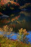 Het toneel landschap van de Herfst in Allegheny stock fotografie