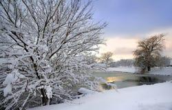 Het toneel Landschap van de Winter royalty-vrije stock foto's