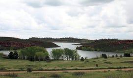 Het toneellandschap van de zomercolorado in Rocky Mountains stock afbeelding