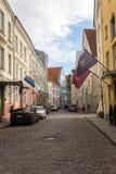 24-27 08 2016 het Toneelpanorama van de de zomer mooie luchthorizon van de Oude Stad in Tallinn, Estland Royalty-vrije Stock Afbeeldingen