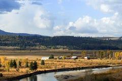 Het toneelzuidoosten van Wyoming van het Grote Nationale Park van Tetons stock foto