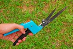 Het tonen hoe te om gras te snijden Stock Afbeeldingen