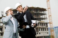 Het tonen van de nieuwe bouw Royalty-vrije Stock Foto's