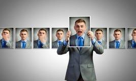 Het tonen van emoties Stock Afbeeldingen