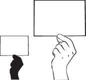 Het tonen van kaart vector illustratie