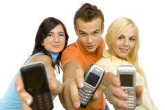 Het tonen van mobiles het scherm royalty-vrije stock afbeeldingen