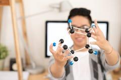 Het tonen van molecule Stock Afbeeldingen