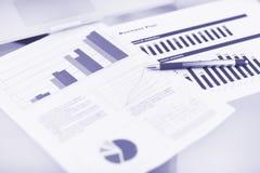 Het tonen van zaken en financieel verslag Royalty-vrije Stock Fotografie