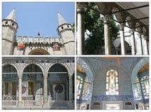 Het Topkapi Paleis, Collage stock afbeeldingen