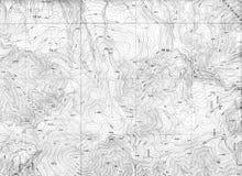Het topografische Patroon van de Kaart Stock Afbeeldingen