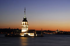 Het toren-licht van het meisje huis-molen Royalty-vrije Stock Foto's