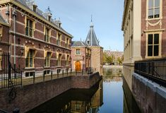 The little tower, the small octogonal building, the office of the Dutch Prime Minister stock photo
