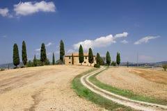 Het Toscaanse Huis van het Landbouwbedrijf Royalty-vrije Stock Foto's
