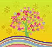 Het tot bloei komen Cherry Tree Abstract Illustrations Stock Afbeelding