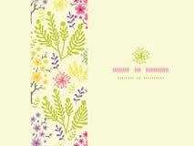 Het tot bloei komende naadloze patroon van het bomen horizontale kader Royalty-vrije Stock Afbeelding