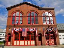 Het traditionele Amerikaanse Huis van de Brand Stock Afbeelding