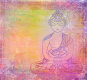 Het traditionele Artistieke Patroon van het Boeddhisme Stock Afbeelding