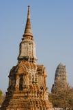 Het traditionele Boedha beeldhouwwerk van Thailand in Ayutthaya Stock Fotografie