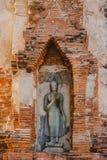 Het traditionele Boedha beeldhouwwerk van Thailand in Ayutthaya Stock Afbeeldingen
