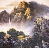 Het traditionele Chinese schilderen stock illustratie