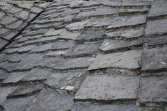 Het traditionele dakwerk van de steenplak in Herzegovina stock foto