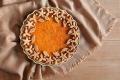Het traditionele gezonde zoete dessert van de pompoen scherpe pastei Stock Foto
