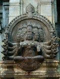 Het traditionele Hindoese godsdienstbeeldhouwwerk Royalty-vrije Stock Foto