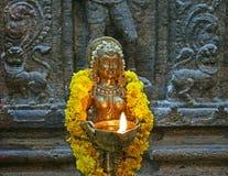 Het traditionele Hindoese godsdienstbeeldhouwwerk Royalty-vrije Stock Afbeeldingen