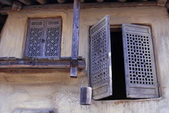 Het Traditionele Huis van Korea Stock Foto