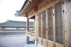Het traditionele huis van Korea, royalty-vrije stock afbeeldingen