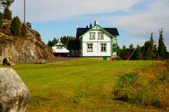 Het traditionele huis van Noorwegen in Telemark Royalty-vrije Stock Afbeeldingen