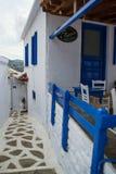 Het traditionele huis van het Skopeloseiland stock afbeeldingen