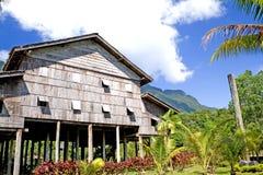 Het traditionele Inheemse Huis van Borneo royalty-vrije stock afbeeldingen