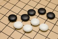 Het traditionele Japanse spel GAAT stock afbeeldingen