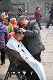 Het traditionele kapsel van Chinese mensen stock afbeeldingen